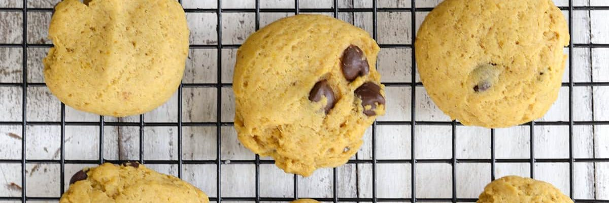 Oh So Chewy Pumpkin Chocolate Chip Cookies by Ashley Rose of Sugar & Cloth, a top lifestyle blog in Houston, Texas