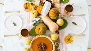 Thanksgiving Table Decor Idea + Sparkling Pumpkin Cider Recipe