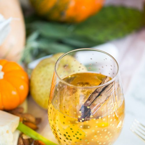 photo of a sparkling pumpkin cider recipe by sugar and cloth