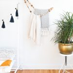 DIY Minimal Beaded Blanket Holder