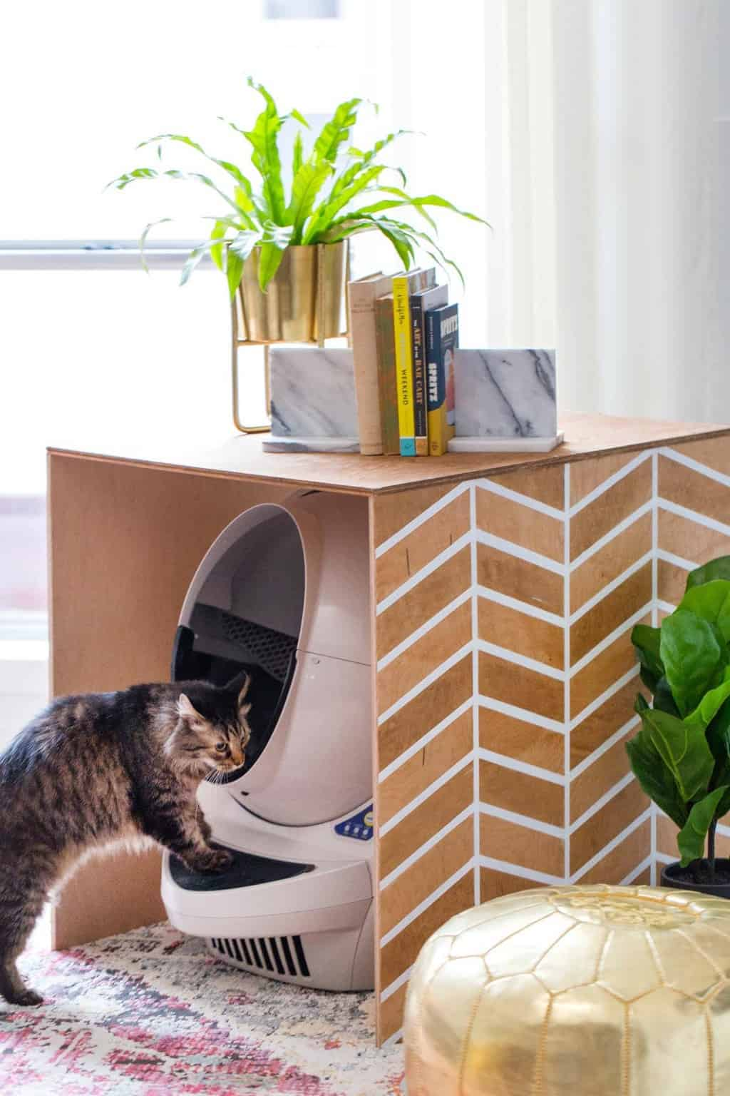 Patterned DIY Litter Box Cover