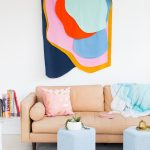 Colorful DIY Fabric Wall Hanging