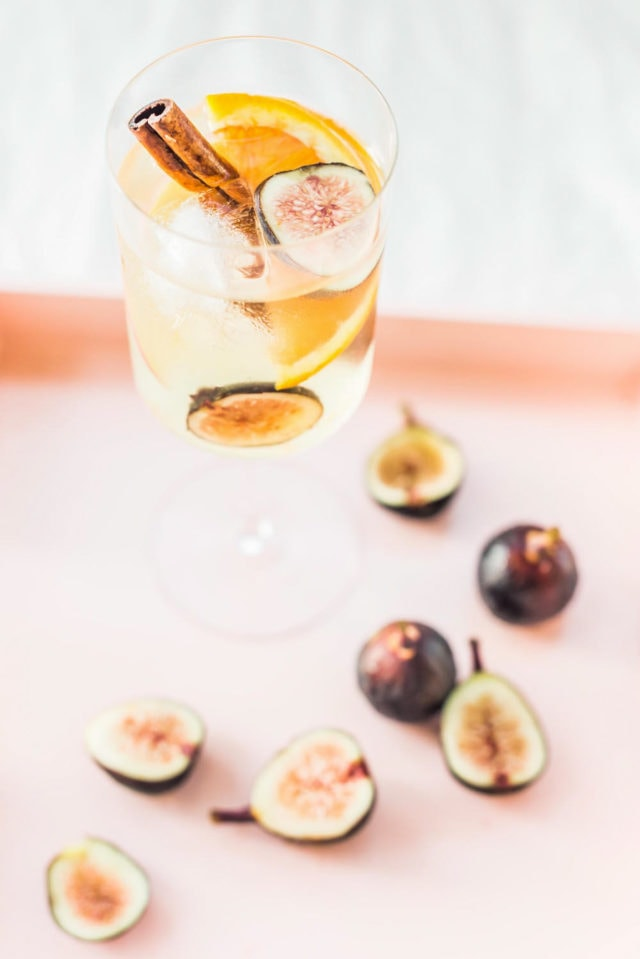 Autumn Fig Sangria Recipe by top Houston lifestyle blogger Ashley Rose of Sugar and Cloth