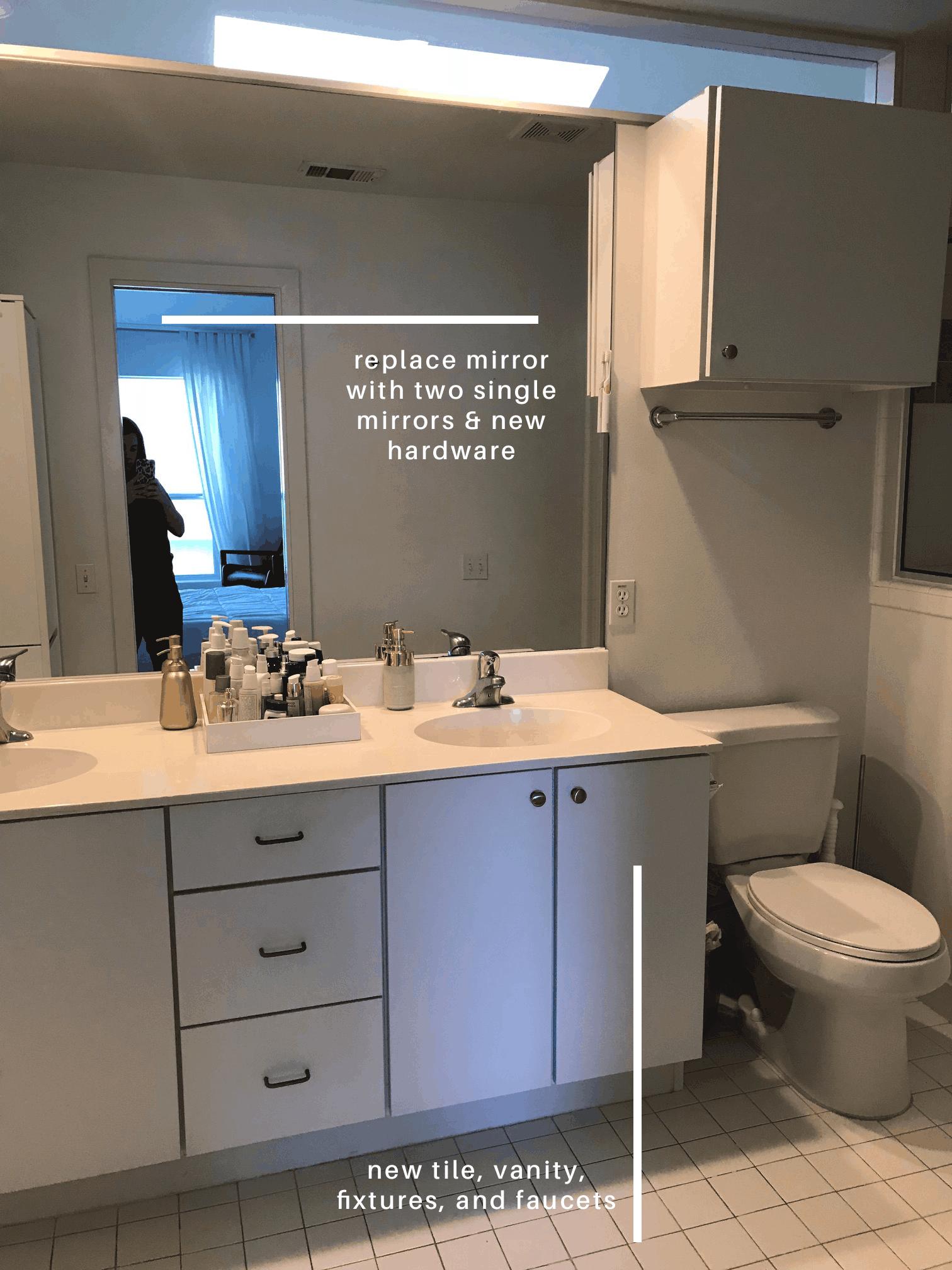 One Room Challenge Week Renovating Our Master Bedroom Suite - One week bathroom