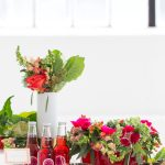 DIY Floral Punch Bowl Wreath + Sparkling Blackberry Mocktail Recipe