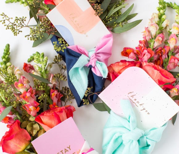 DIY Fabric Wrapped Bouquets for Gifting by top Houston lifestyle blogger Ashley Rose of Sugar & Cloth