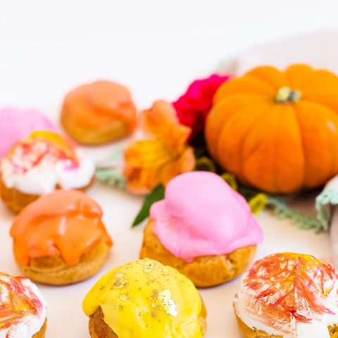 Pumpkin Pie Cream Puffs by top Houston lifestyle blogger Ashley Rose of Sugar and Cloth
