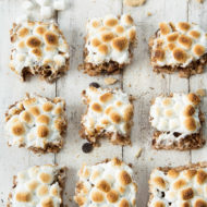 Toasted S'mores Rice Krispie Treats by top Houston lifestyle blogger Ashley Rose of Sugar and Cloth