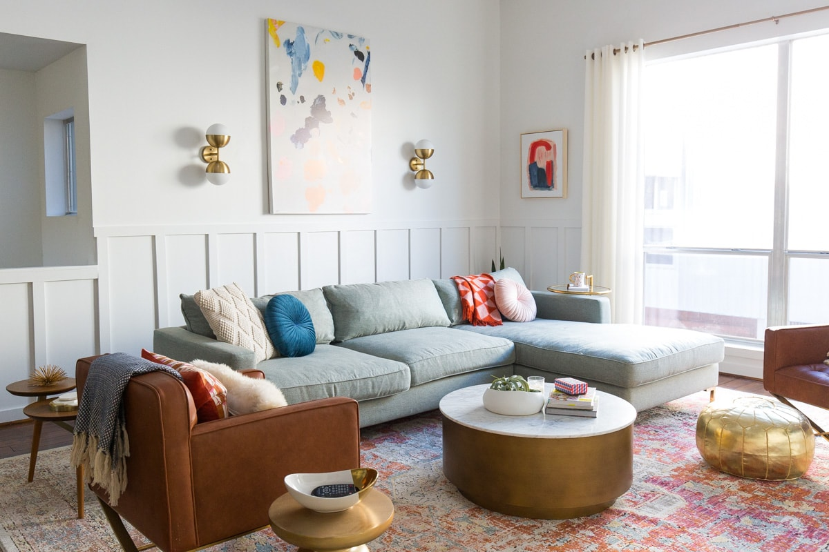 Big Reveal: We Finally Have Our Finished Living Room Makeover by top Houston lifestyle blogger Ashley Rose of Sugar & Cloth