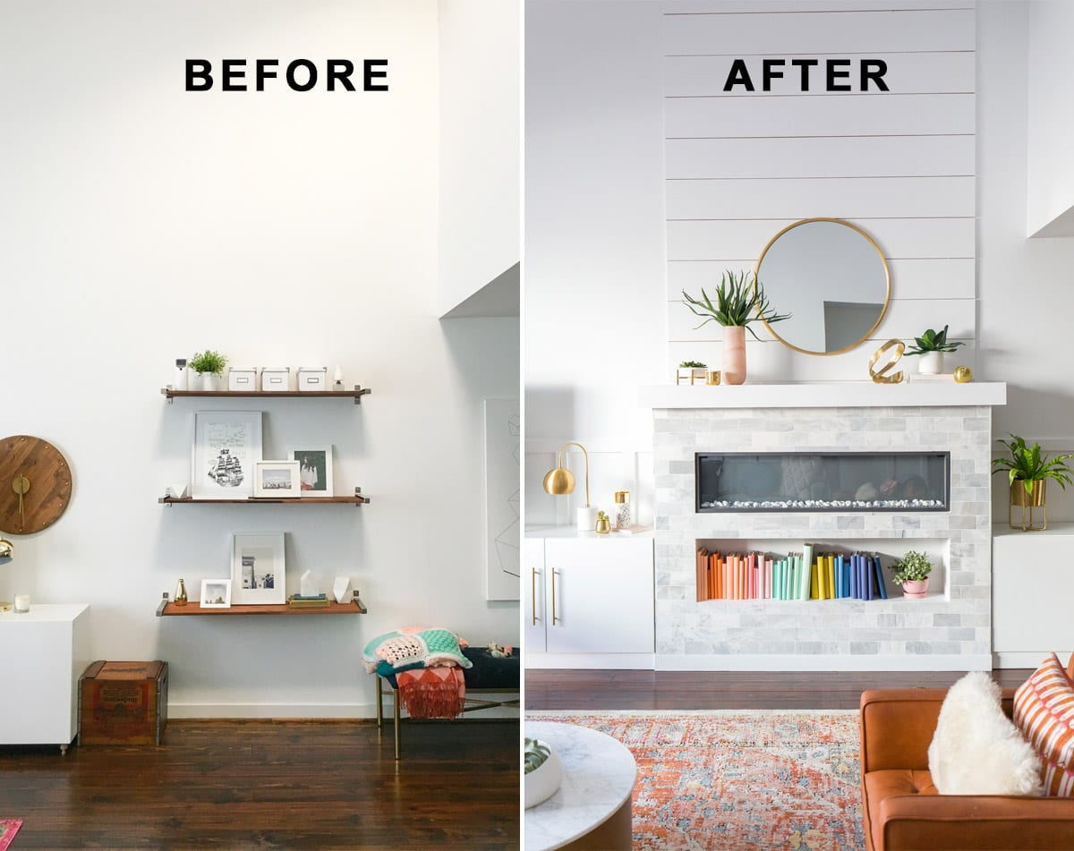 Wayfair Home Living Room Reno-3 before after | Sugar & Cloth
