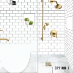 One Room Challenge Week 2: Our Master Bath Design Plan + Help us Pick!