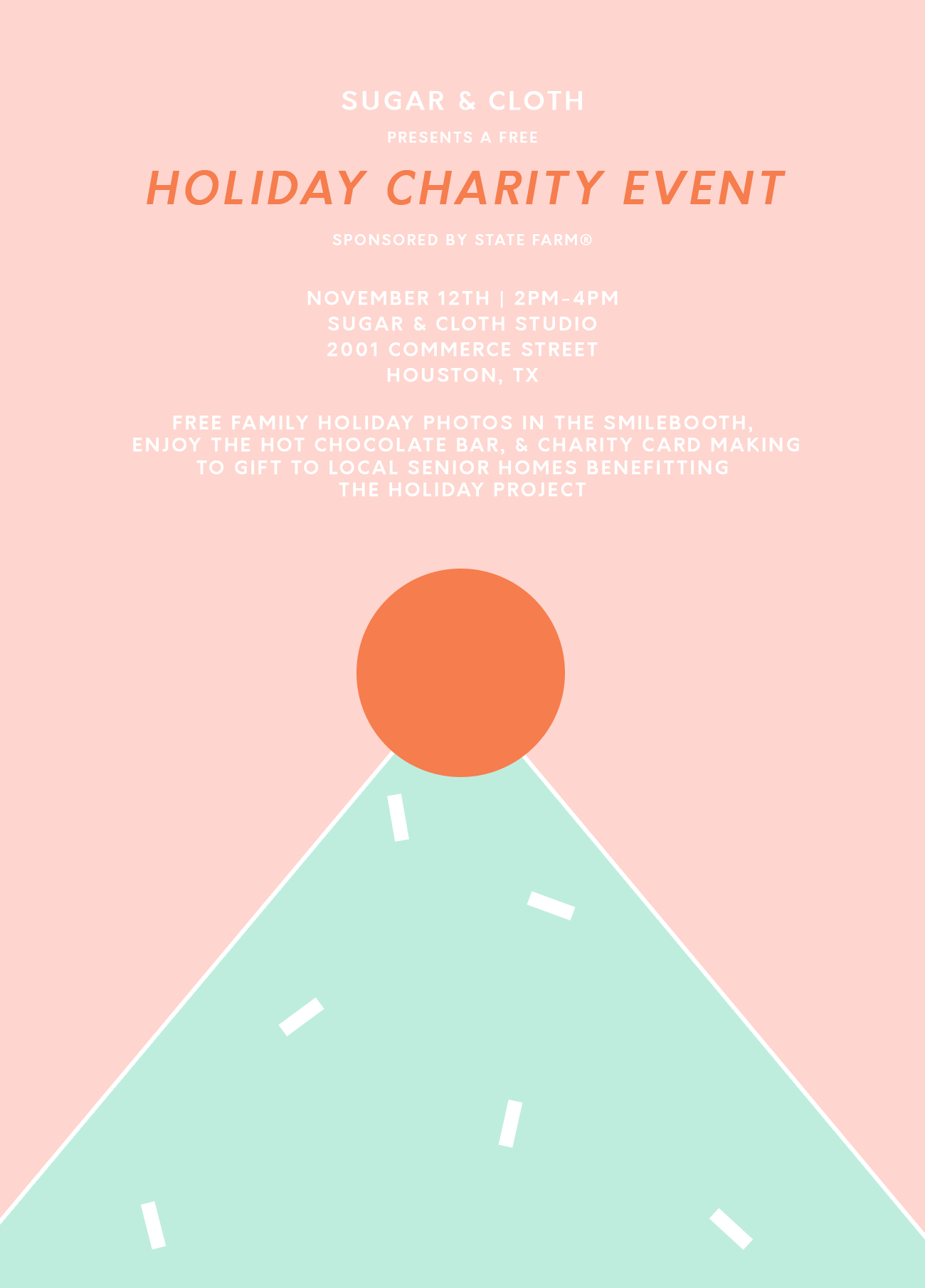 Our Free Charity Holiday Photo & Card Event at Sugar & Cloth Studio! by top Houston lifestyle blogger Ashley Rose of Sugar & Cloth