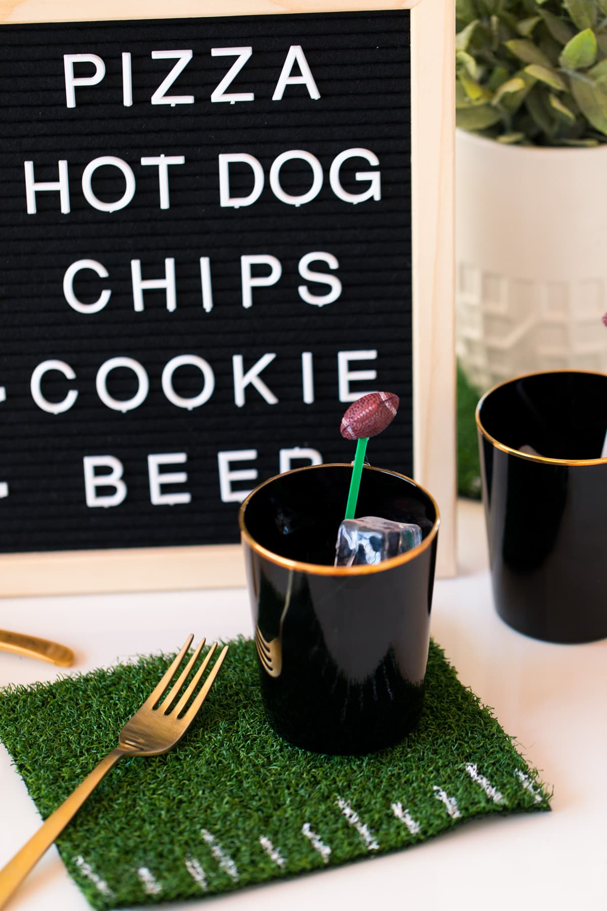 3 Simple DIY Ideas for Your Next Football Watch Party by top Houston lifestyle blogger Ashley Rose of Sugar & Cloth