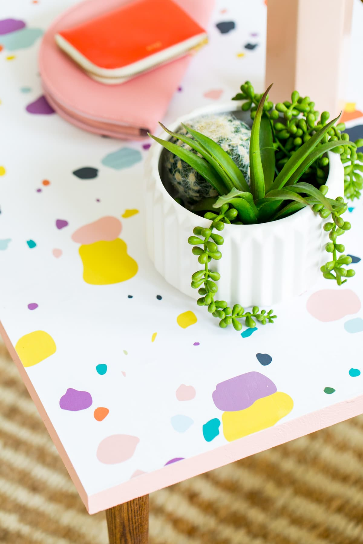 Simple DIY Faux Terrazzo Coffee Table (+ Video How-To ...