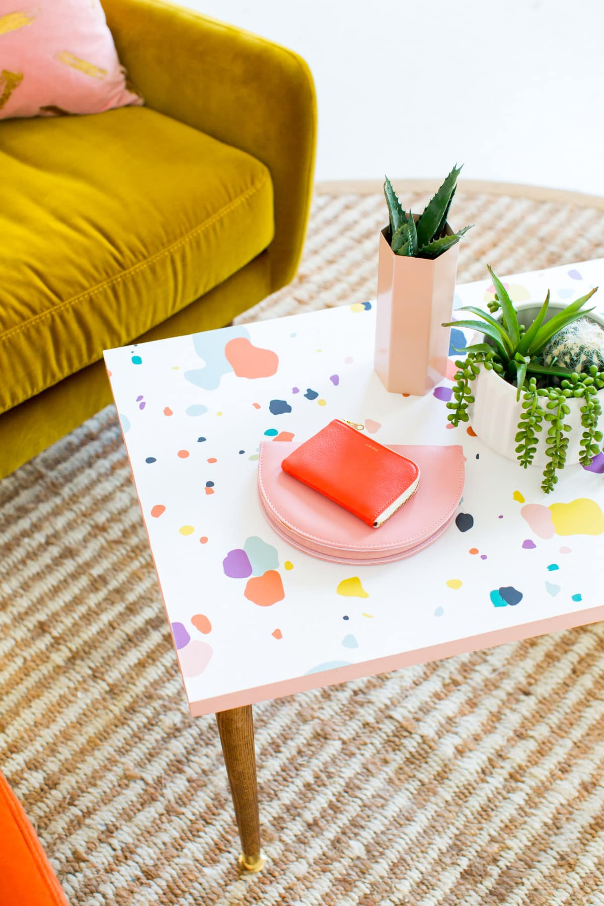 DIY Faux Terrazzo Serving Boards by top Houston lifestyle blogger Ashley Rose of Sugar and Cloth