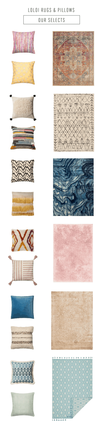 Our favorite Loloi Rugs & PIllows this Fall by top Houston lifestyle blogger Ashley Rose of Sugar & Cloth