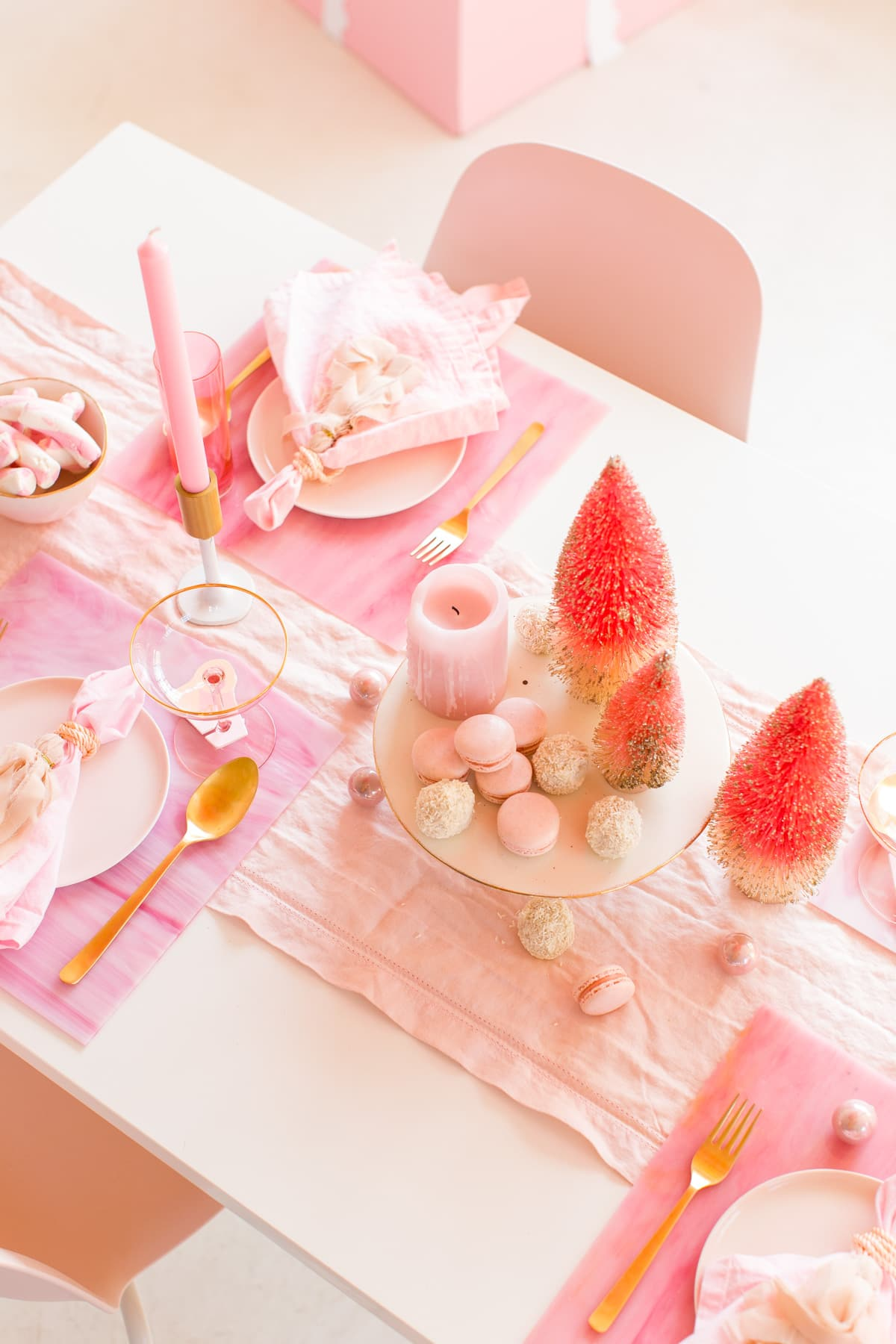 A Perfectly Pink Holiday Party Table by Houston lifestyle blogger Ashley Rose of Sugar & Cloth