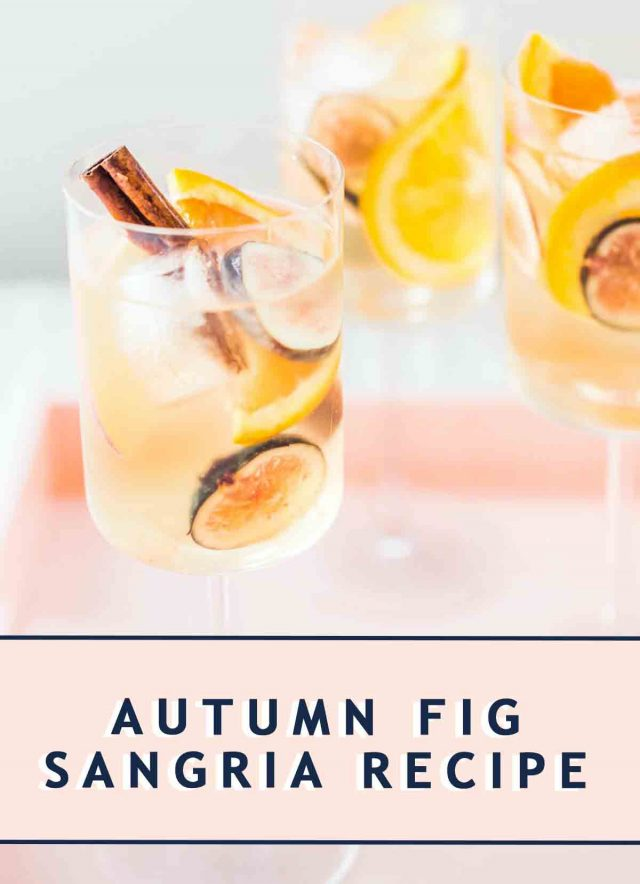 photo of a white wine fig sangria recipe