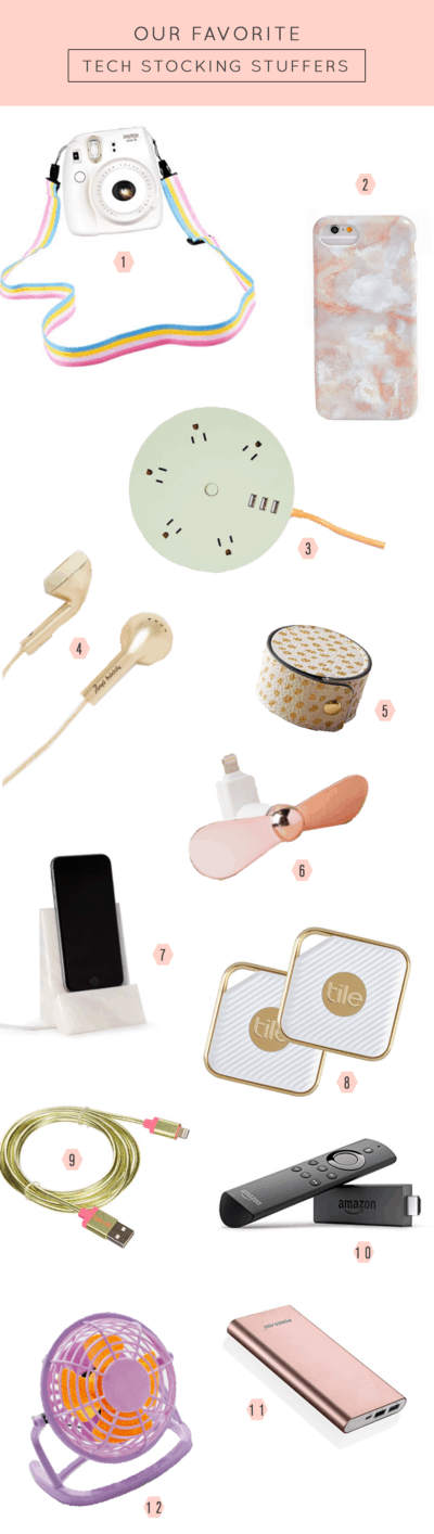 Our favorite tech stocking stuffers by Ashley Rose of Sugar & Cloth, a top Houston Lifestyle Blog
