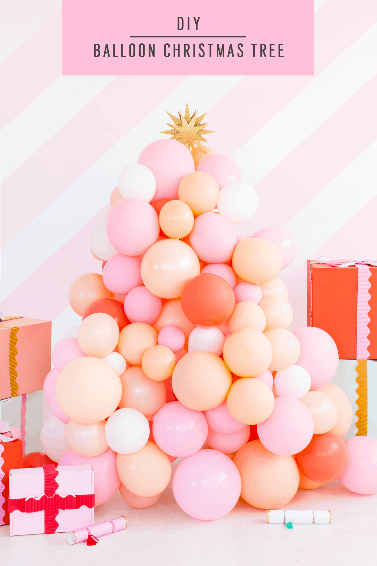 Christmas Tree Balloon.Diy Balloon Christmas Tree Sugar Cloth