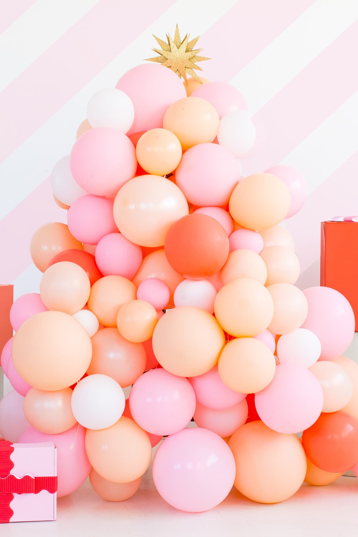 DIY Balloon Garland Tree by top Houston lifestyle blogger Ashley Rose of Sugar and Cloth