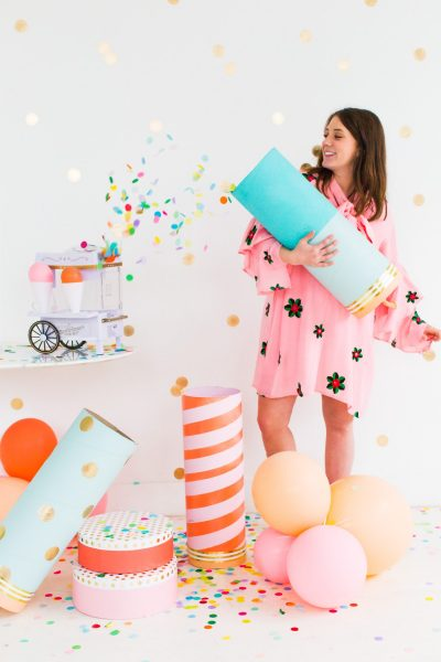 Jumbo Simple DIY Confetti Poppers by top Houston lifestyle blogger Ashley Rose of Sugar and Cloth