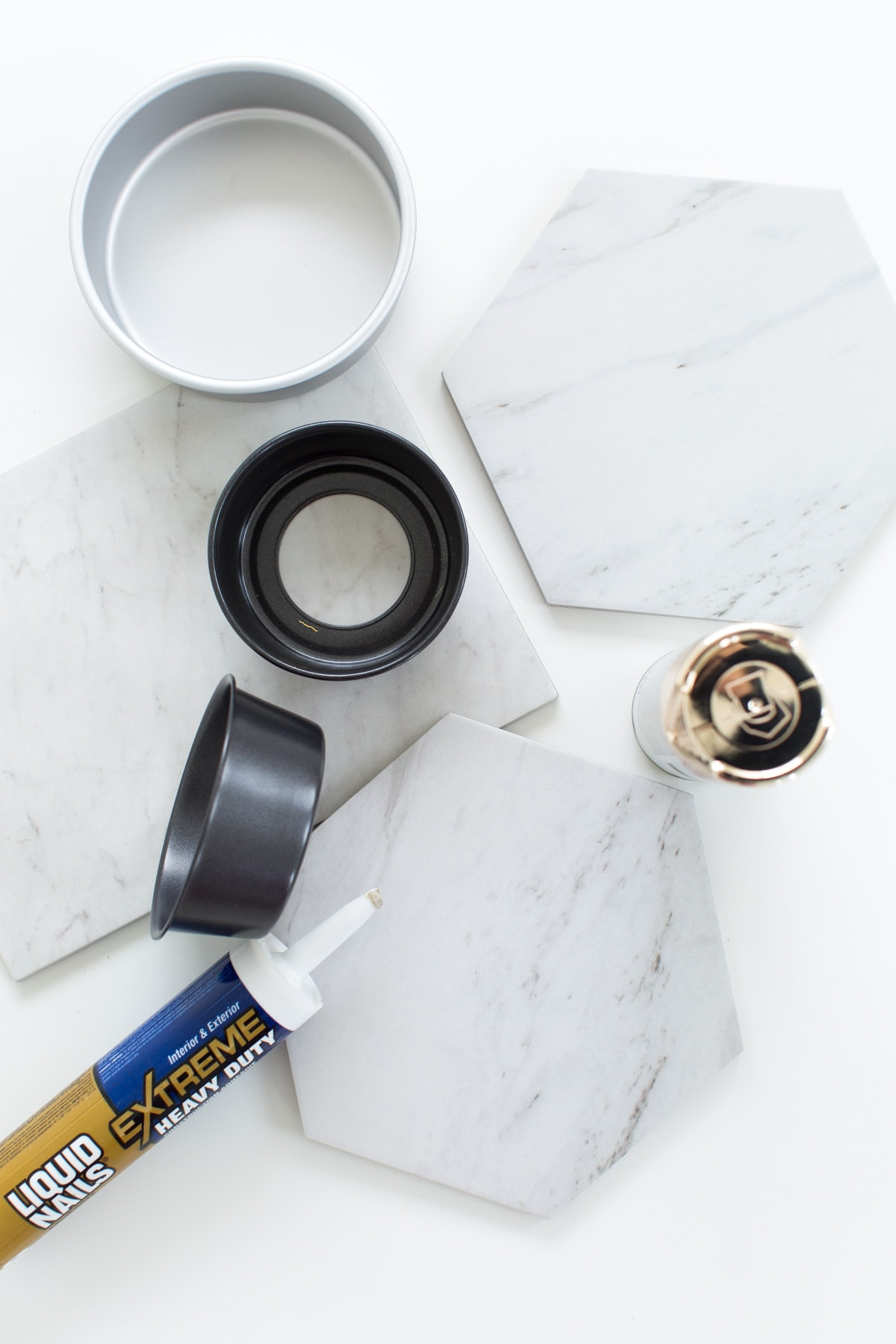 DIY Marble & Gold Serveware by top Houston lifestyle blogger Ashley Rose of Sugar and Cloth