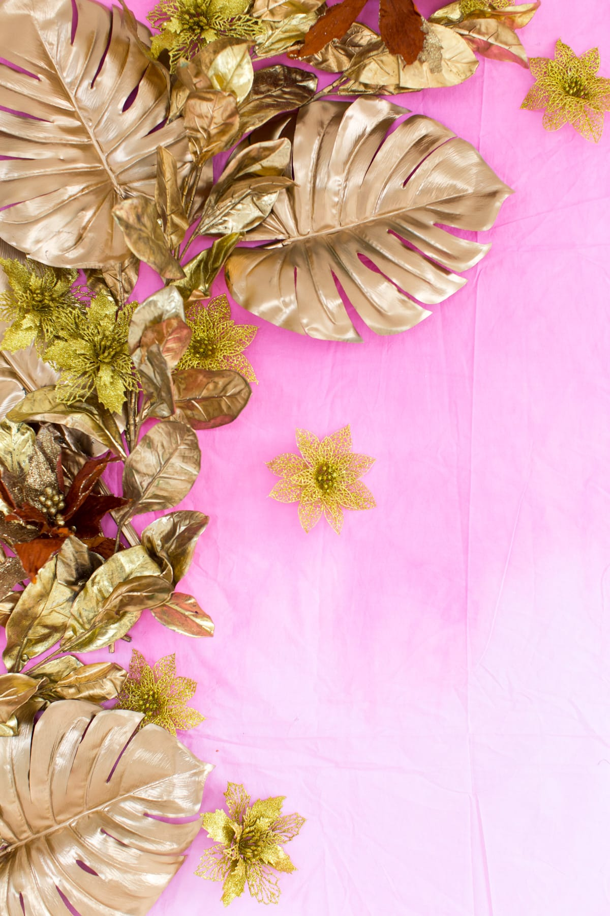 DIY Gold Leaf Photo Backdrop by top Houston Lifestyle blogger Ashley Rose of Sugar and Cloth