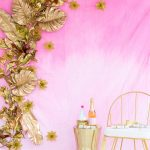 DIY Gold Leaf Photo Backdrop