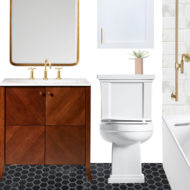 Sugar & Cloth Casa: Our Guest Bathroom Makeover Design Plan! by top Houston lifestyle blogger Ashley Rose of Sugar and Cloth