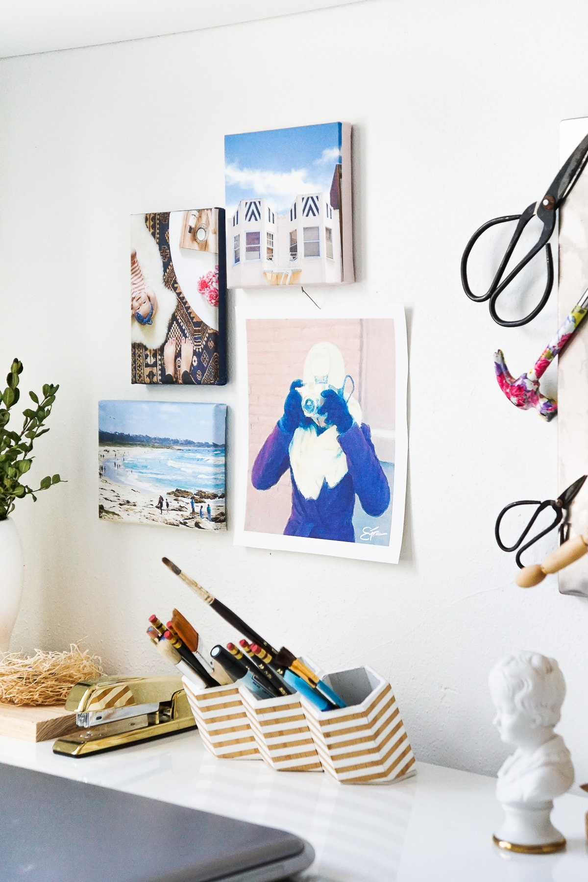 photo of how to make a DIY Canvas Print Wall Art Hanging