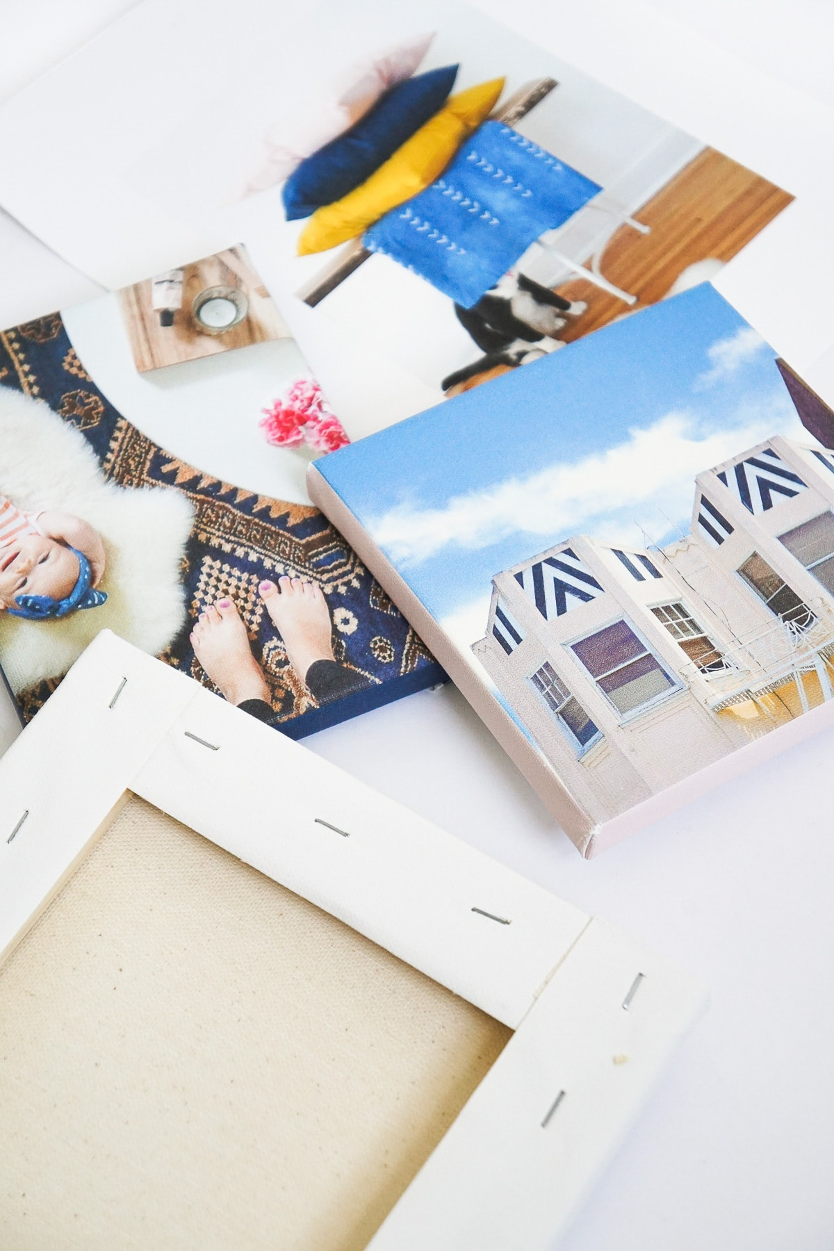 photo of canvas paper to make your own DIY canvas art print by top Houston lifestyle blogger Ashley Rose of Sugar & Cloth