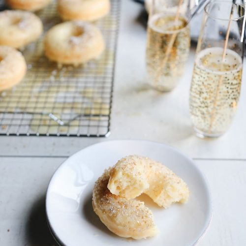 Champagne Donuts Recipe by top Houston lifestyle blogger Ashley Rose of Sugar and Cloth