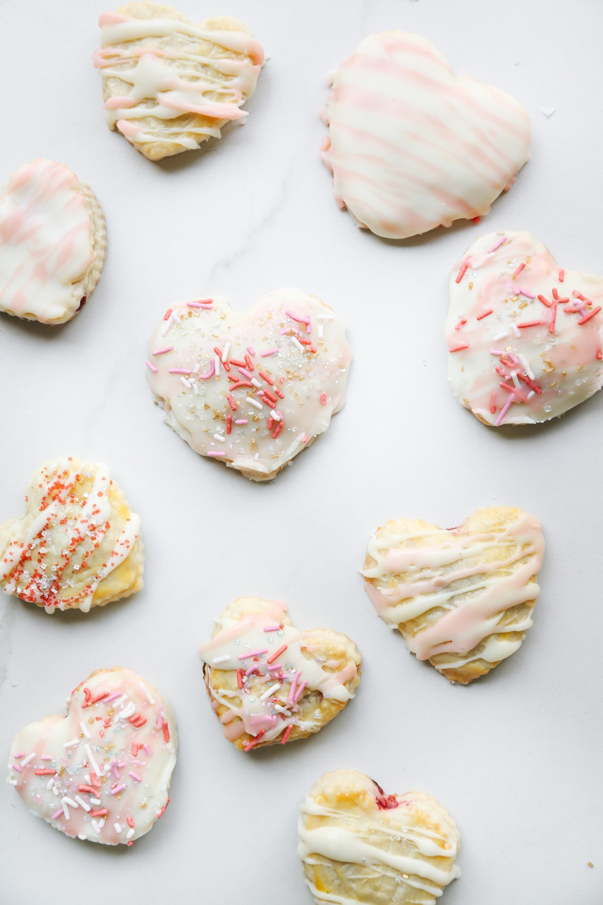 Raspberry Heart Shaped Pop Tarts Recipe by top Houston lifestyle blogger Ashley Rose of Sugar and Cloth