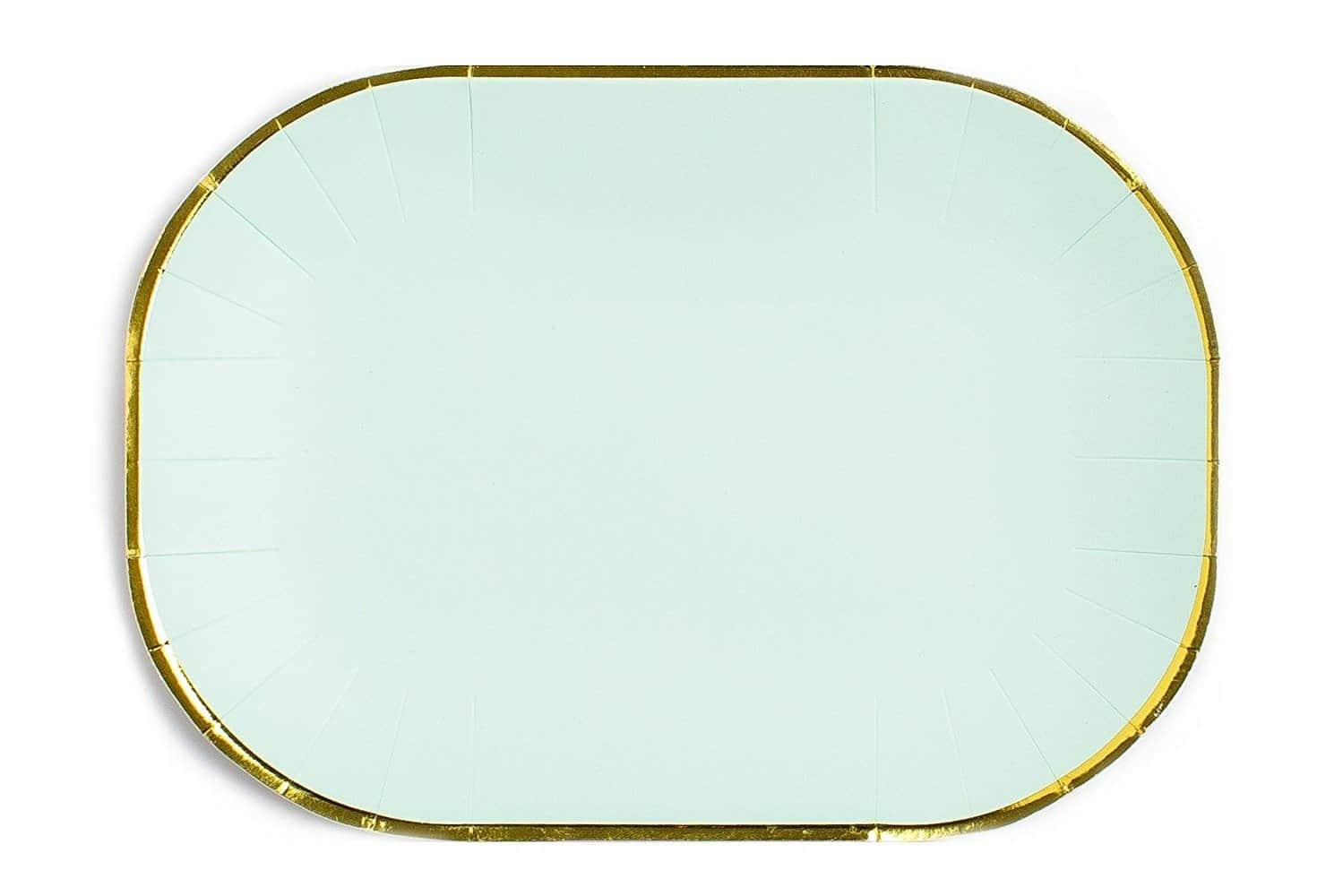 Mint with Gold Edge Paper Plates  sc 1 st  Sugar \u0026 Cloth & Sugar \u0026 Cloth Entertaining \u0026 Party Products | Sugar \u0026 Cloth