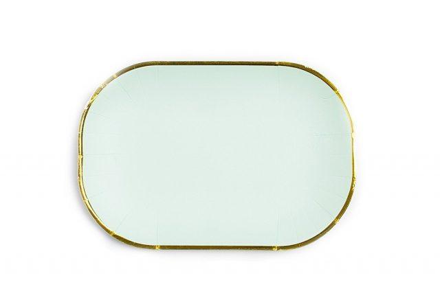 Mint with Gold Edge Paper Plates  sc 1 st  Sugar u0026 Cloth & Mint with Gold Edge Paper Plates | Sugar u0026 Cloth