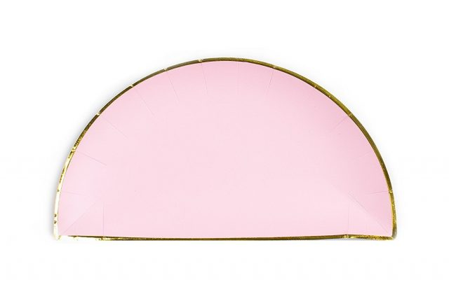 Pink with Gold Edge Paper Plates  sc 1 st  Sugar \u0026 Cloth & Pink with Gold Edge Paper Plates | Sugar \u0026 Cloth