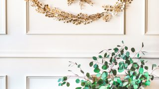 DIY Golden Wreath and Garland