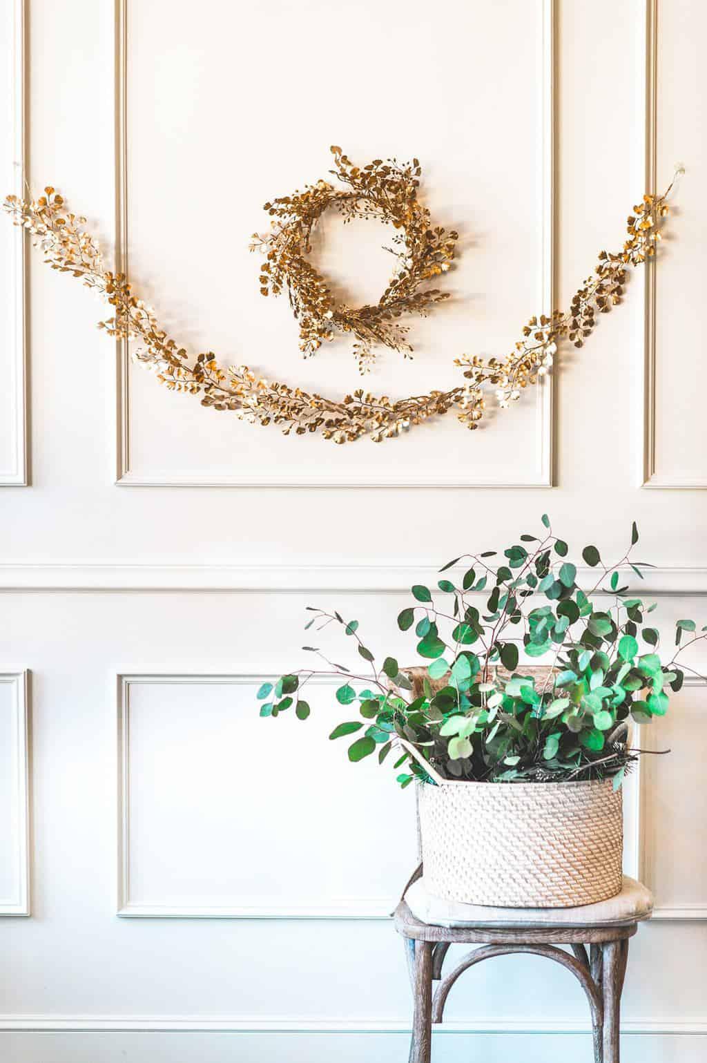 DIY Golden Wreath & Garland | Sugar & Cloth | DIY & Lifestyle