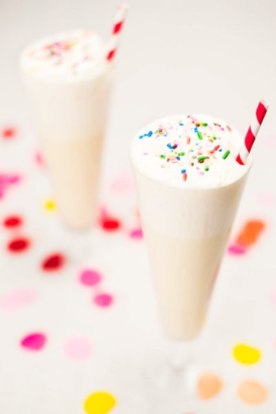 creamy birthday cake cocktail recipe