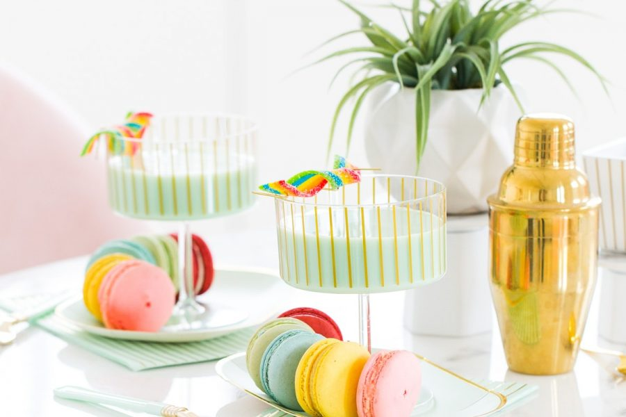 Lucky Coconut Mint Chip Cocktail Recipe by top Houston lifestyle blogger Ashley Rose of Sugar and Cloth