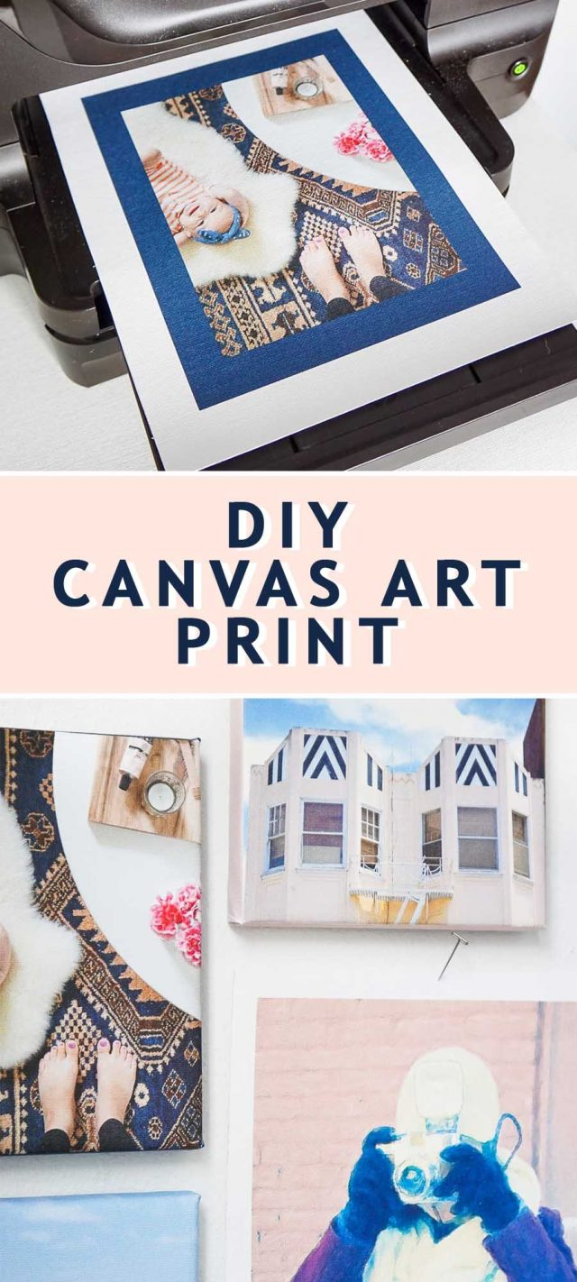 photo of the tutorial how to guide on how to make a DIY canvas art print by top Houston lifestyle blogger Ashley Rose of Sugar & Cloth