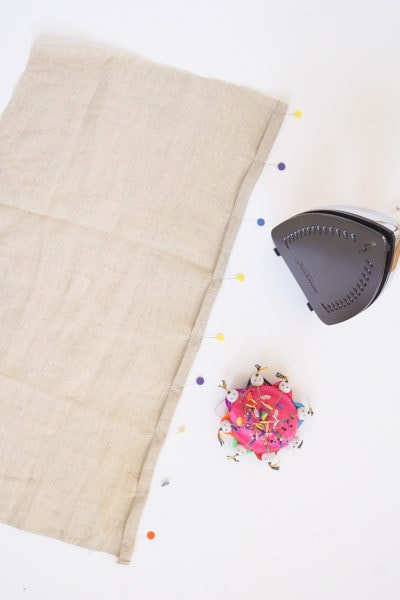 Step 12 -DIY Rug Hook Pillow by top Houston lifestyle blogger Ashley Rose of Sugar and Cloth #rughook #diy #poillow #craft #diypillow #doityourself #pillowcase #homedecor #diydecor