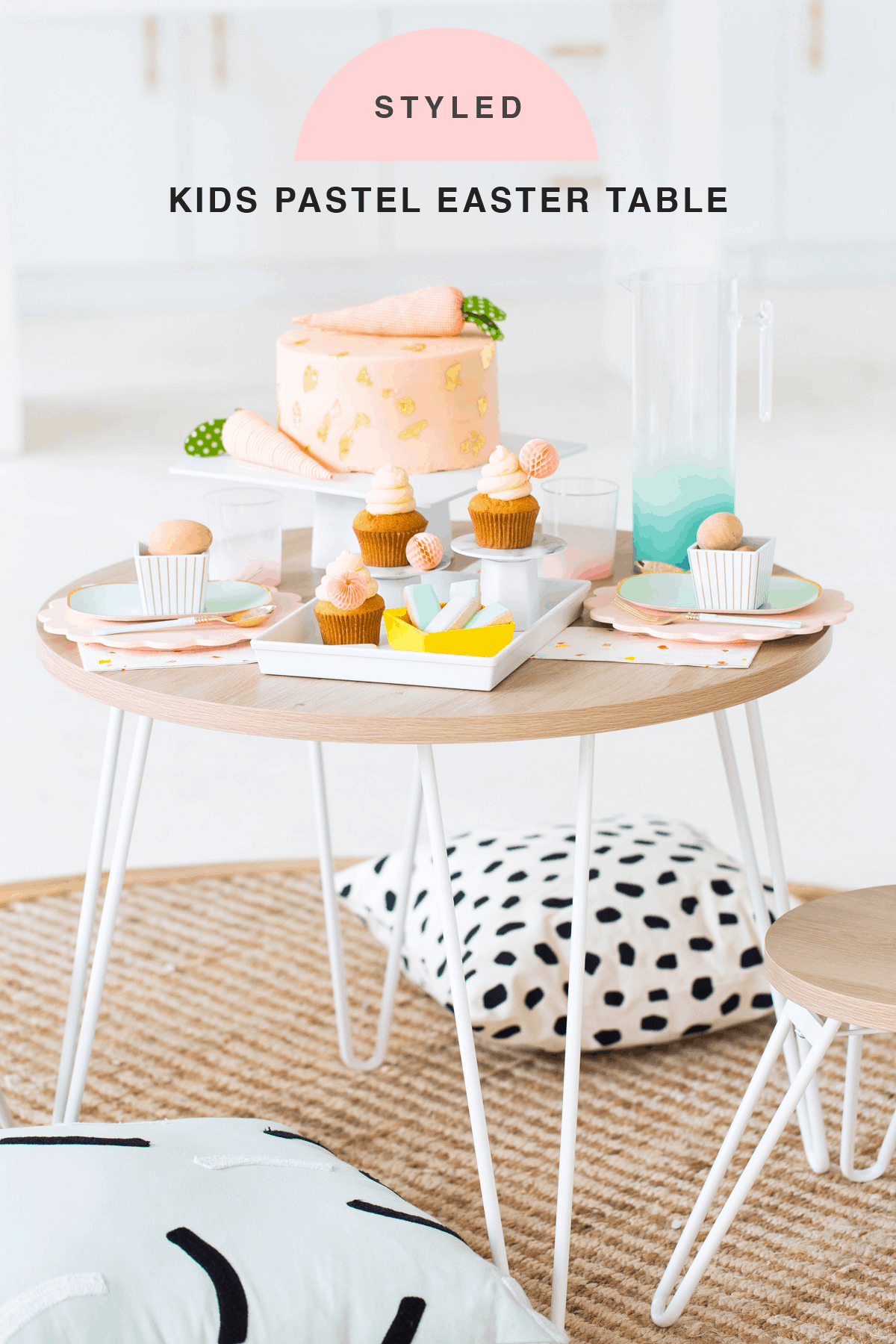 Perfectly Simple Pastel Easter Table Setting