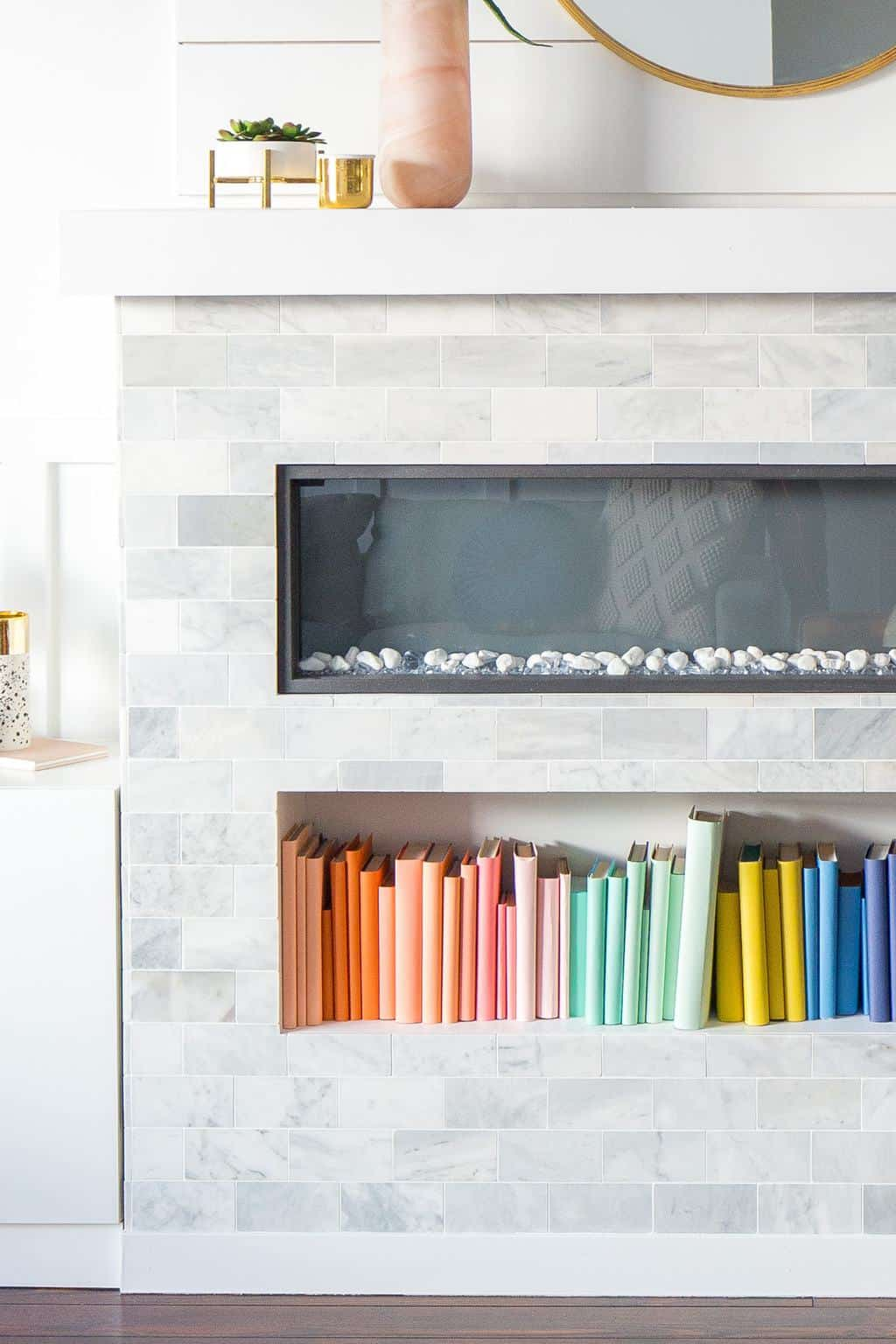 DIY Color Coded Bookshelf