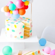 DIY Balloon Cake Topper by top Houston lifestyle Blogger Ashley Rose of Sugar & Cloth