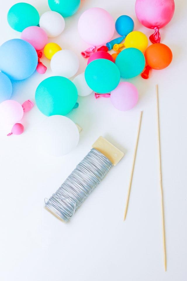 Step 2 - DIY Balloon Garland Cake Topper by top Houston lifestyle Blogger Ashley Rose of Sugar & Cloth - DIY DECOR #DIY #decor #balloon #balloongarland #party #celebrate #birthday #garland #diydecor