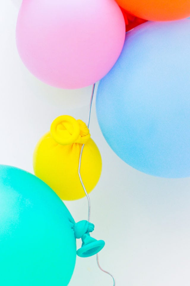 Step 4 - DIY Balloon Garland Cake Topper by top Houston lifestyle Blogger Ashley Rose of Sugar & Cloth - DIY DECOR #DIY #decor #balloon #balloongarland #party #celebrate #birthday #garland #diydecor