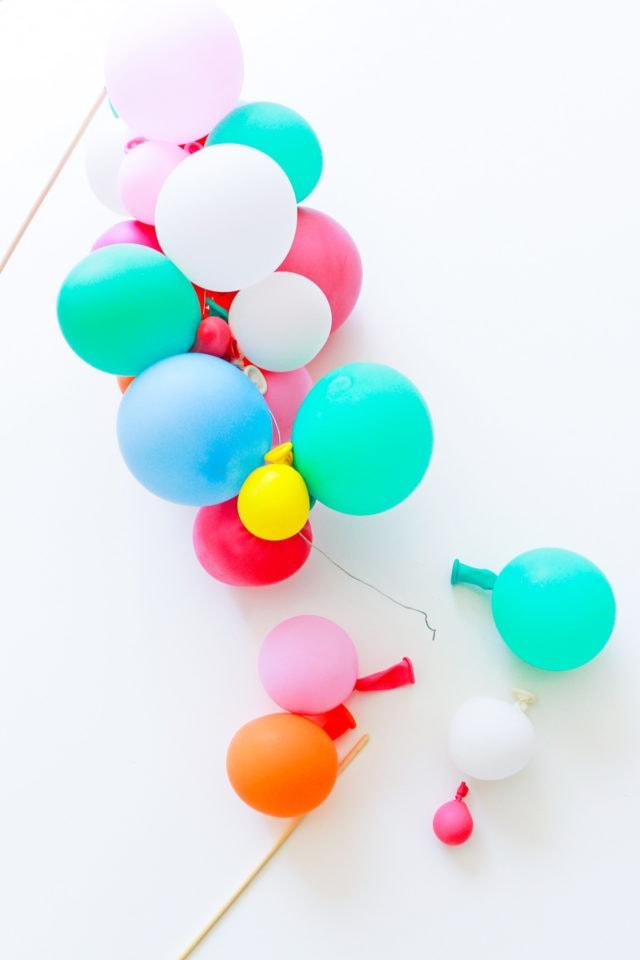 Step 5 -DIY Balloon Garland Cake Topper by top Houston lifestyle Blogger Ashley Rose of Sugar & Cloth - DIY DECOR #DIY #decor #balloon #balloongarland #party #celebrate #birthday #garland #diydecor