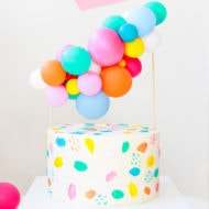 DIY Balloon Cake Topper by